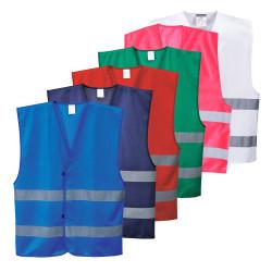 Gilet de sécurité IONA f474 Portwest signalisation visibilité couleurs équipe