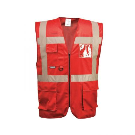 Gilet de signalisation rouge Portwest F476 IONA Executive