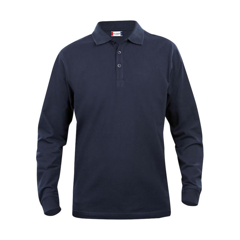 Polo de travail 100% coton pas cher Clique Classic Lincoln bleu marine