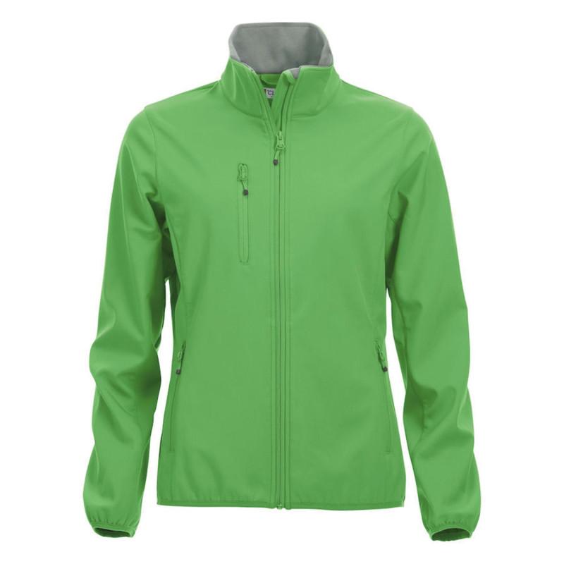 Veste softshell de travail vert pas cher femme Clique