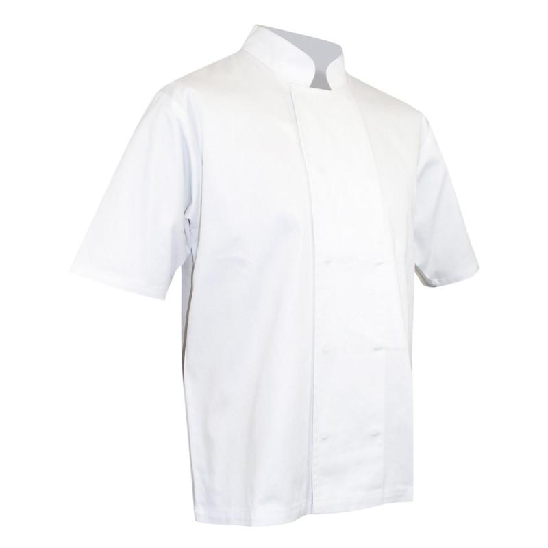Veste de cuisine 100% coton pas cher LMA blanche MERLU