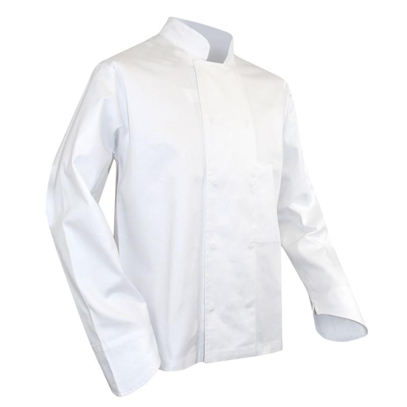 Veste de cuisine 100% coton pas cher LMA blanche à manches longues MERLAN