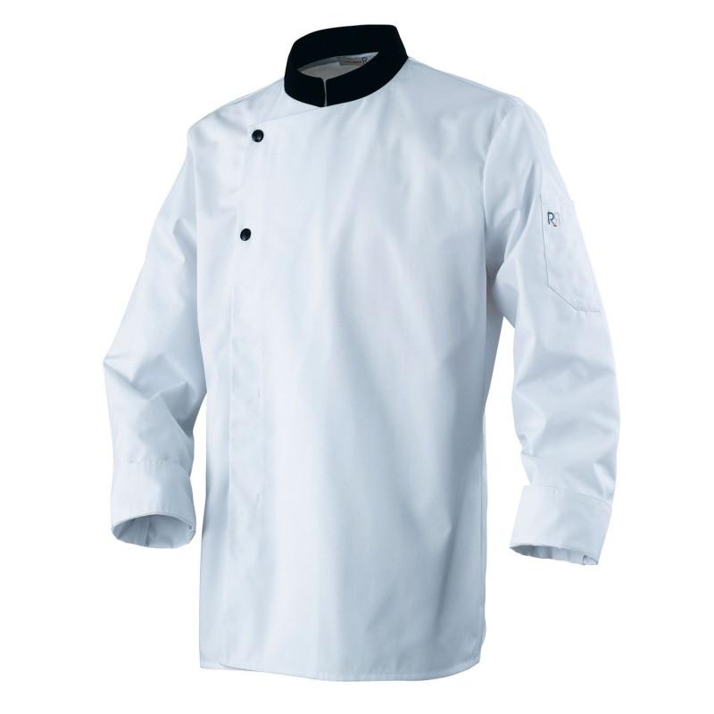 Veste de cuisine blanche et noir pas cher pour apprenti Robur ACADEMIE