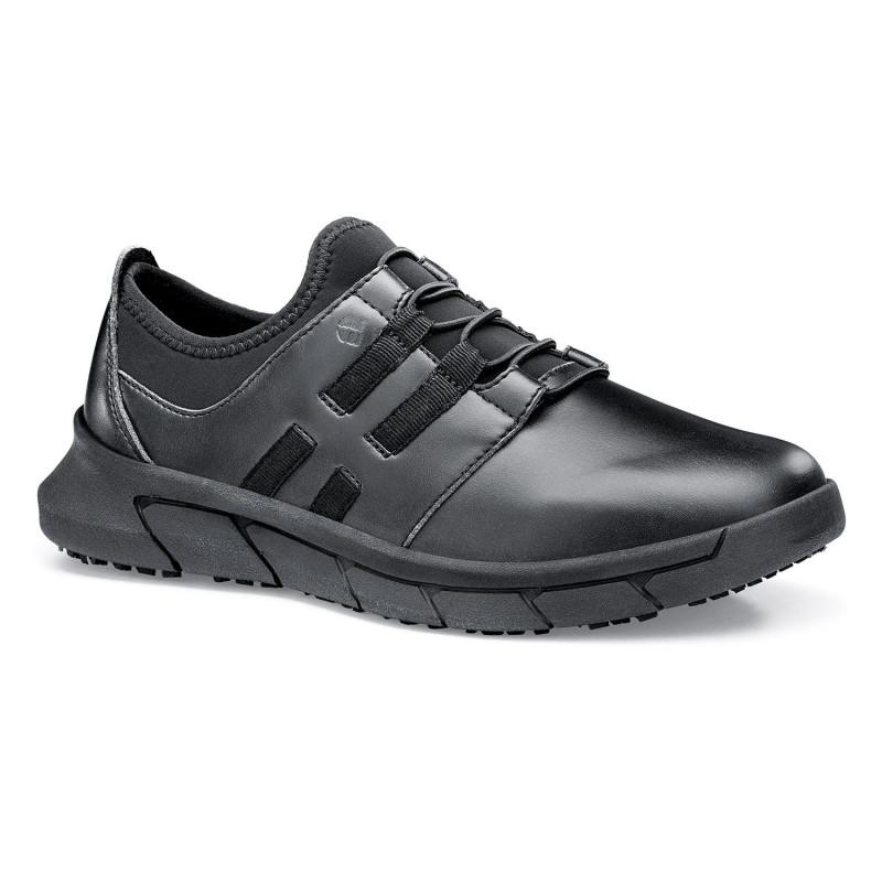 Chaussures de travail noires pour femme ultra légères et antidérapantes Shoes For Crews KARINA
