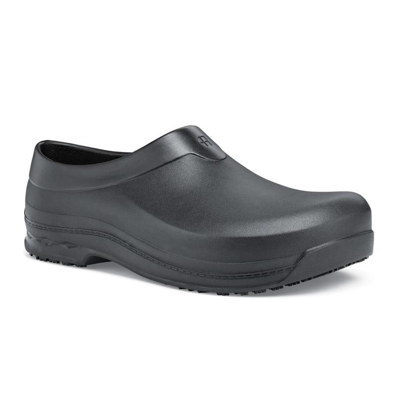 Sabots de travail noirs antidérapants mixte Shoes For Crews RADIUM