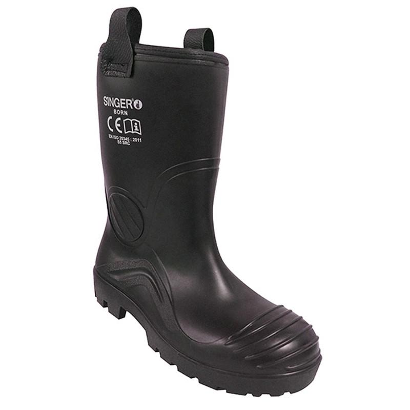 fournir un grand choix de emballage élégant et robuste chaussures classiques Botte de sécurité PVC fourrée S5 SRC BORN Singer Safety
