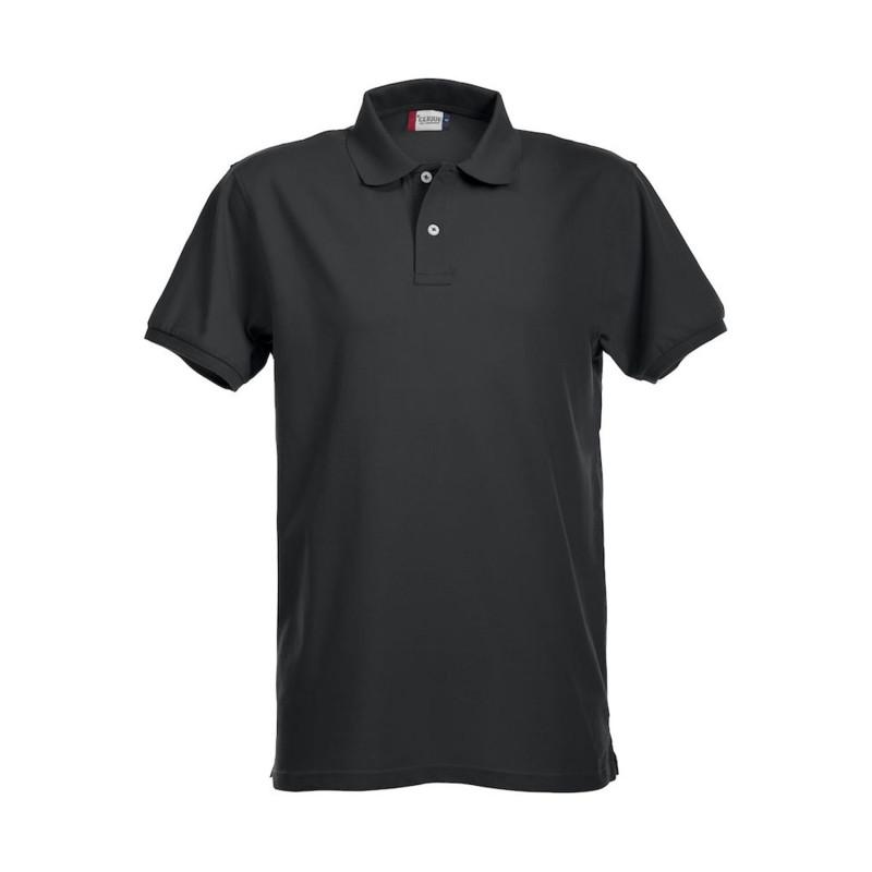 Polo professionnel noir stretch et confortable Clique