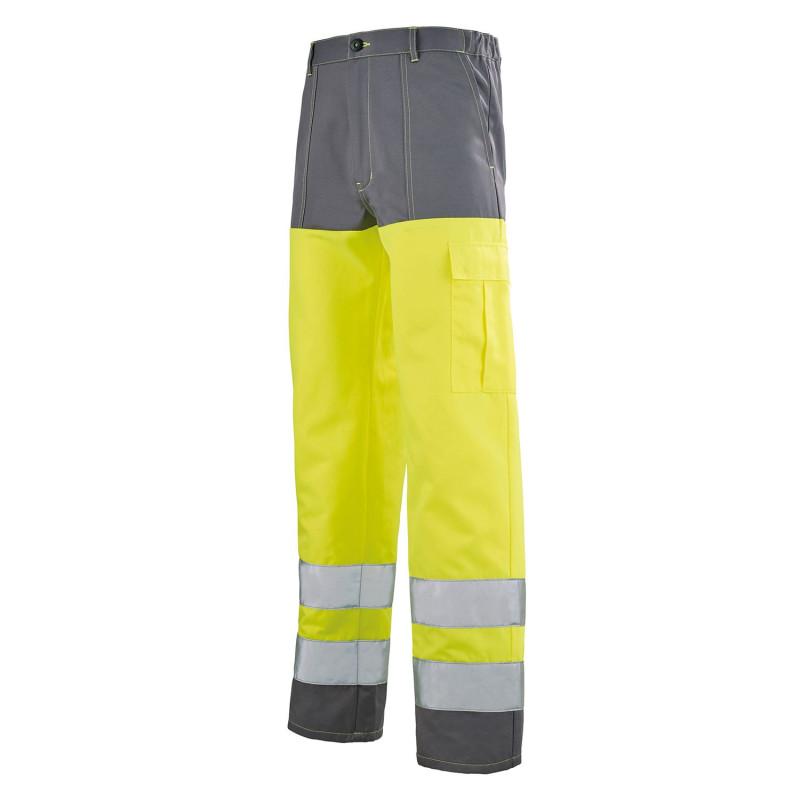 Pantalon HV Lafont pas cher jaune haute visibilité et gris PROBUS