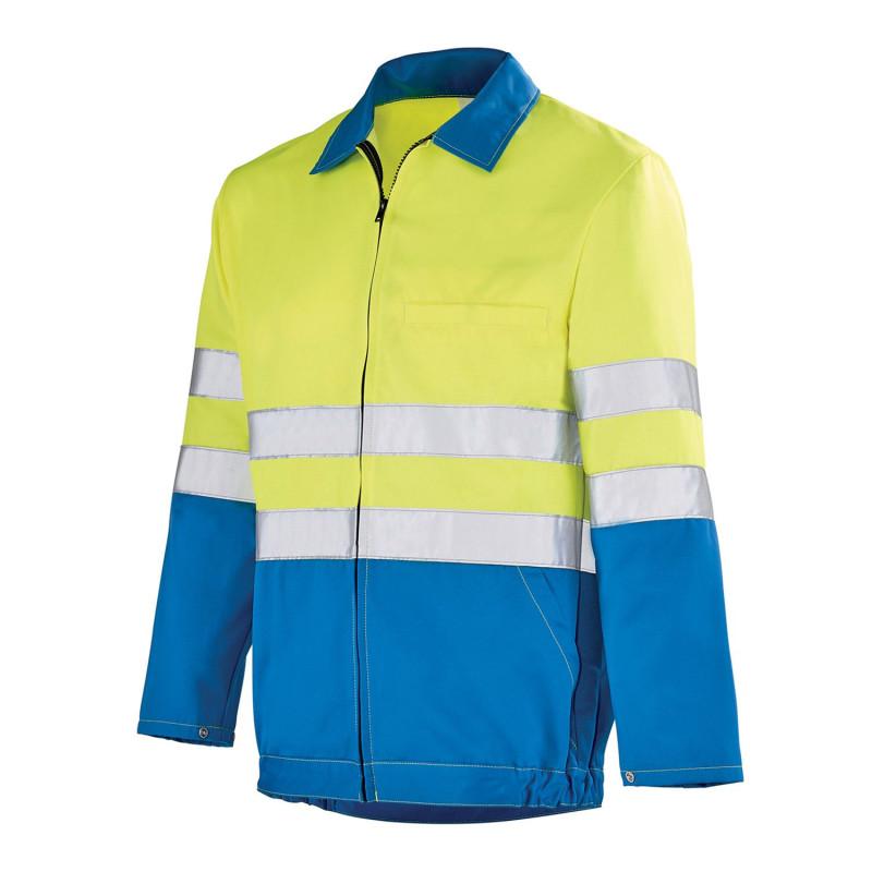 Veste Haute Visibilité Lafont pas cher jaune haute visibilité et bleu BABUR