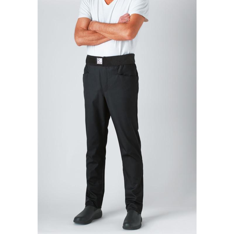 Pantalon de cuisine slim noir pour homme et femme Robur ARCHET