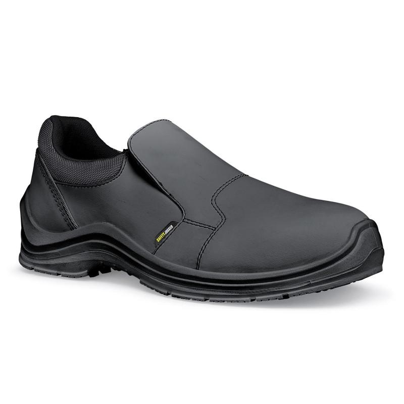 Mocassins de sécurité cuisine antidérapants noirs DOLCE Safety Jogger et Shoes For Crews S3 SRC