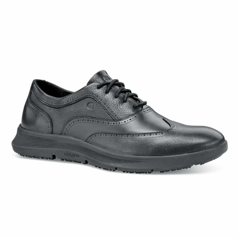 Chaussures de travail noires légères en cuir pour homme Shoes For Crews OB SRC ATTICUS