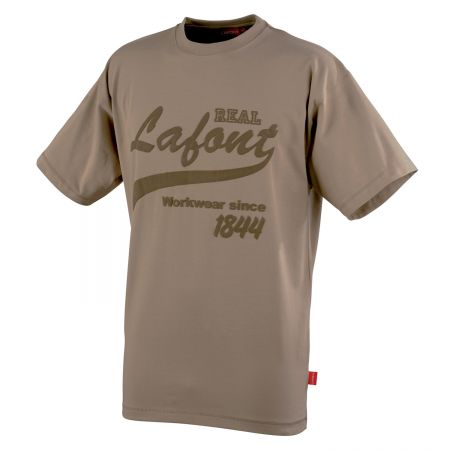 Tee shirt de travail stretch vintage collection Stone by Lafont NIKAN beige