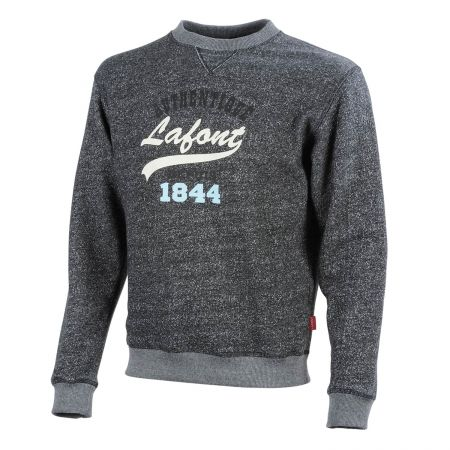Sweat Shirt de travail Lafont BORA Collection Stone by Lafont en molleton chiné noir chiné