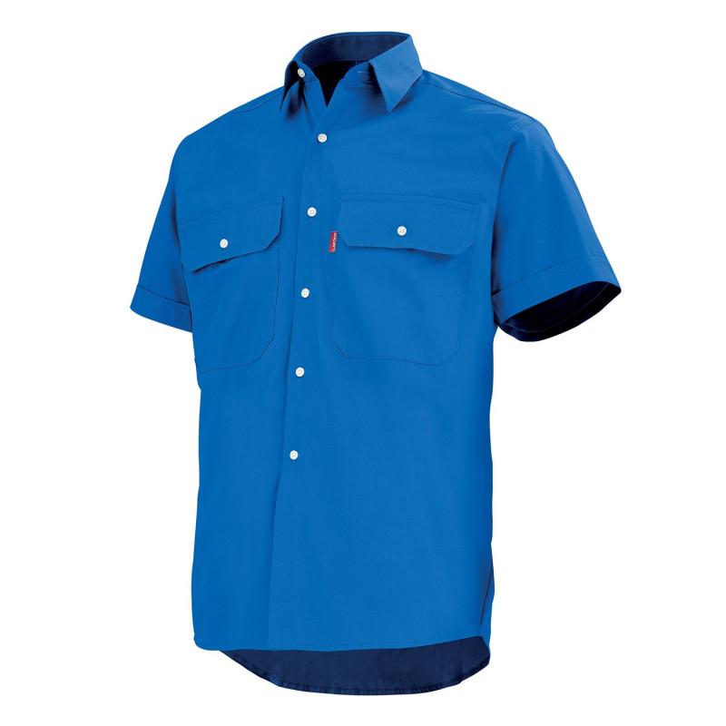 Chemise pro de travail LAFONT TROLLEY à manches courtes 100% coton bleu bugatti
