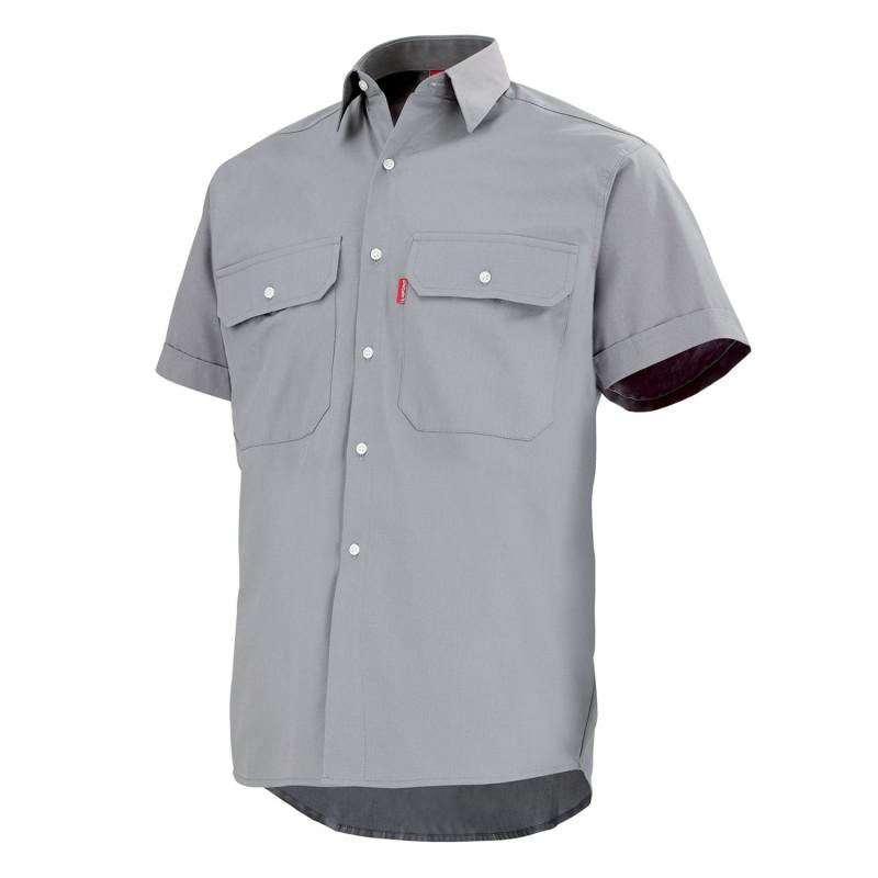 Chemise de travail 100% Coton à manches courtes gris acier LAFONT TROLLEY