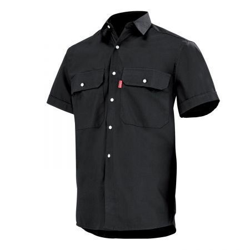 Chemise de travail noire Lafont 100% Coton à manches courtes TROLLEY