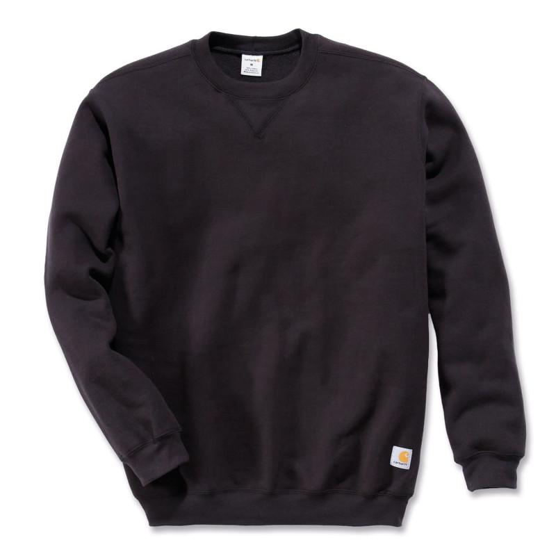 Sweatshirt de travail noir Carhartt MIDWEIGHT CREWNECK SWEATSHIRT