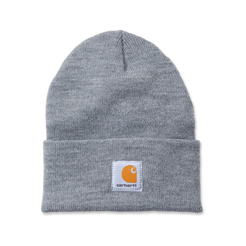 Bonnet de travail gris Carhartt A18 WATCH HAT