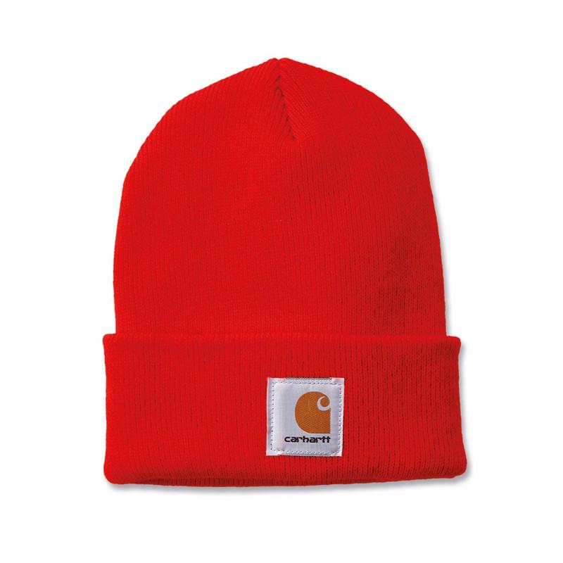 Bonnet de travail orange fluo Carhartt A18 WATCH HAT