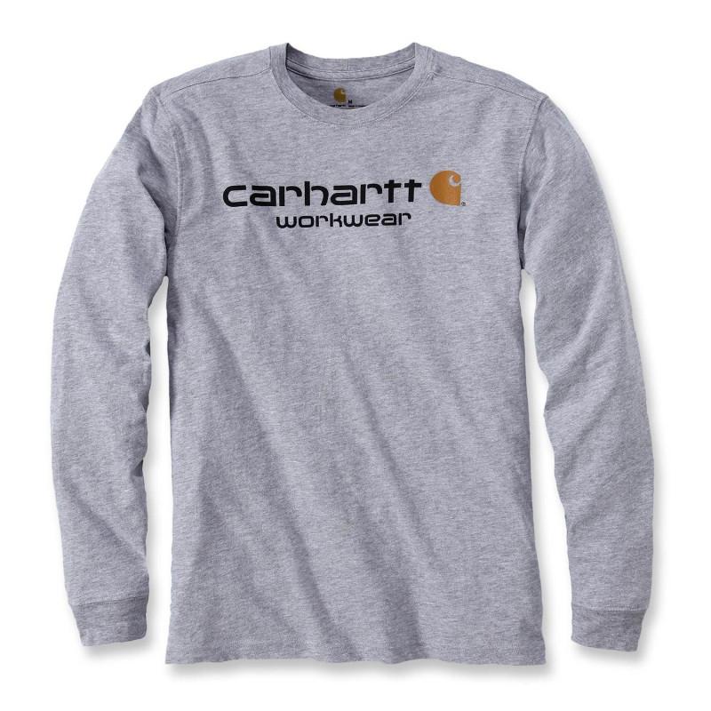Tee shirt de travail Carhartt avec logo Carhartt imprimé sur la poitrine gris