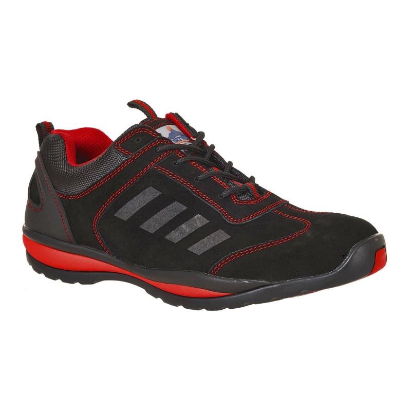 Chaussures de sécurité noires et rouges Trainer S1P HRO STEELITE
