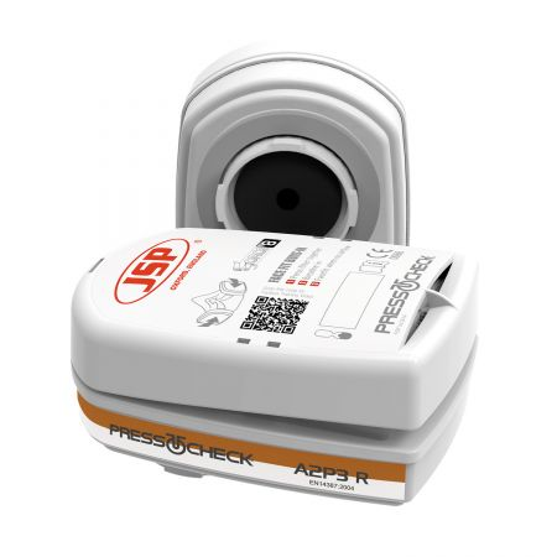 Cartouche A2P3 Press To Check JSP pour masque respiratoire Force 8