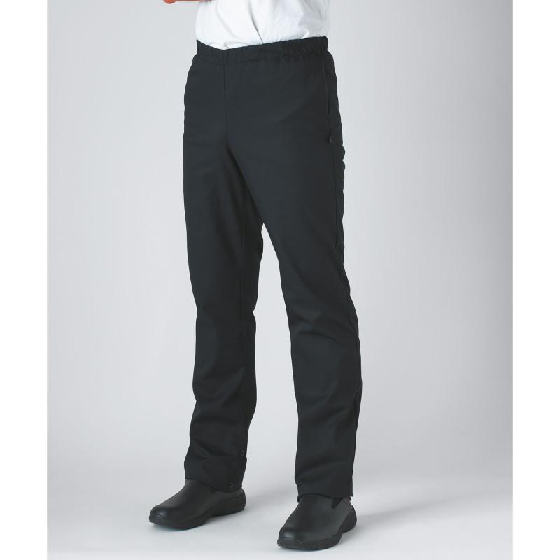 Pantalon de cuisine noir pas cher Robur UMINI