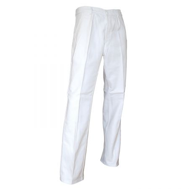 Pantalon peintre pas cher 100% coton blanc LMA PINCEAU