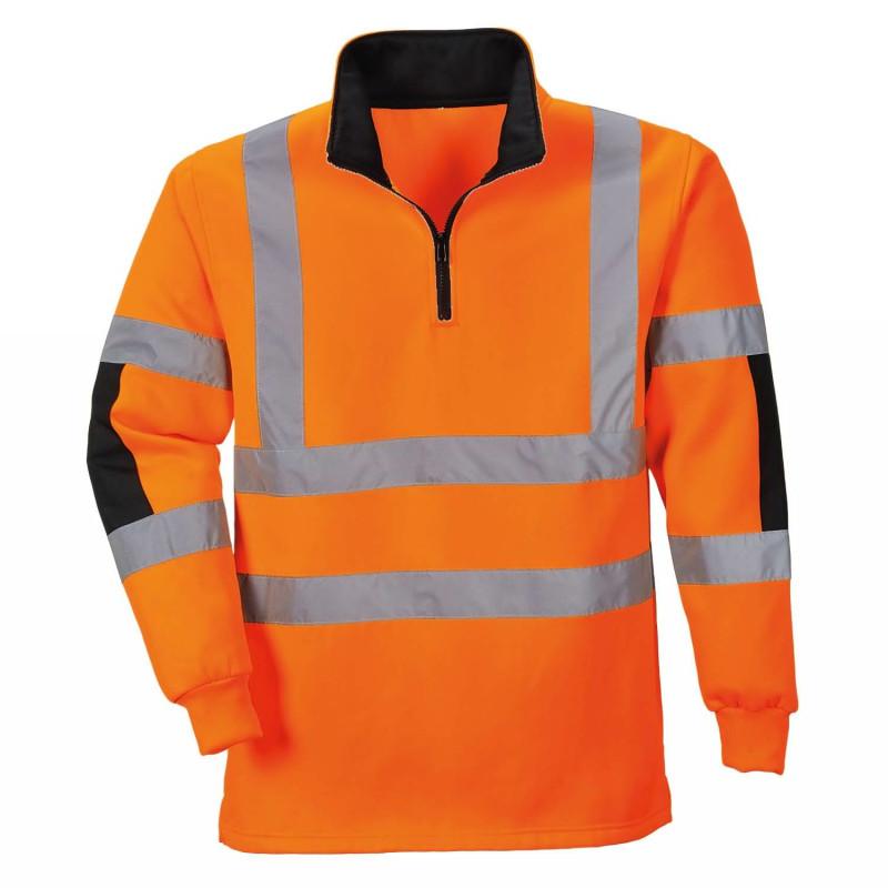 Sweatshirt Haute Visibilité orange classe 3 portwest B308