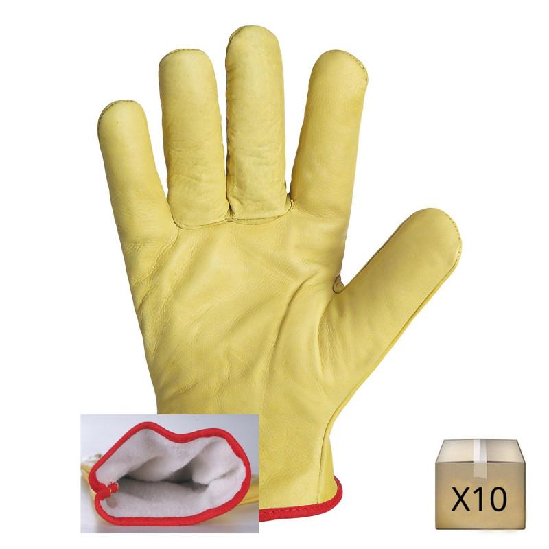 gant travail hiver cuir