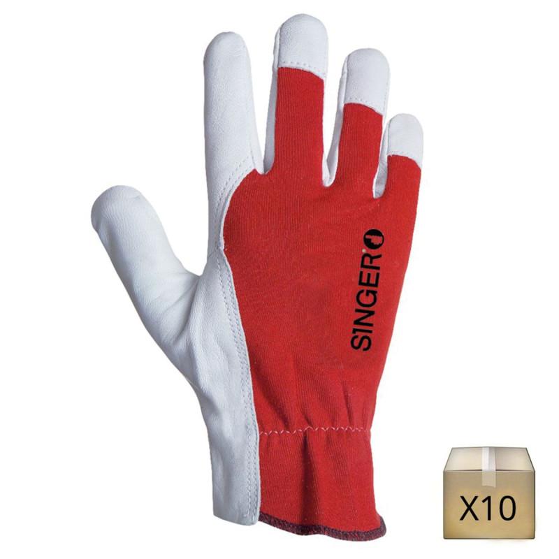 gant travail en cuir de chevre