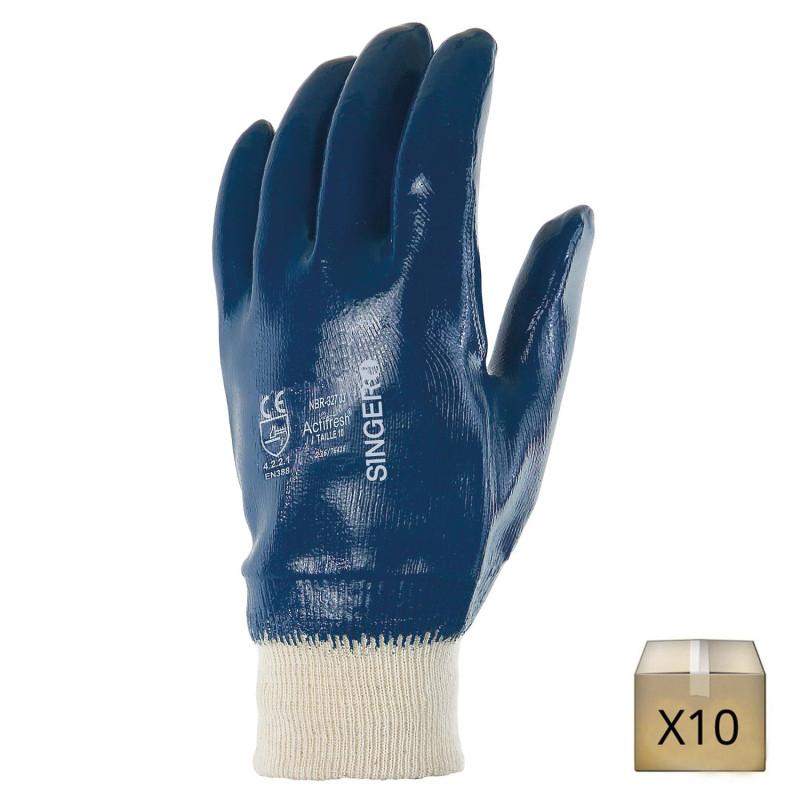gant enduit nitrile résistant