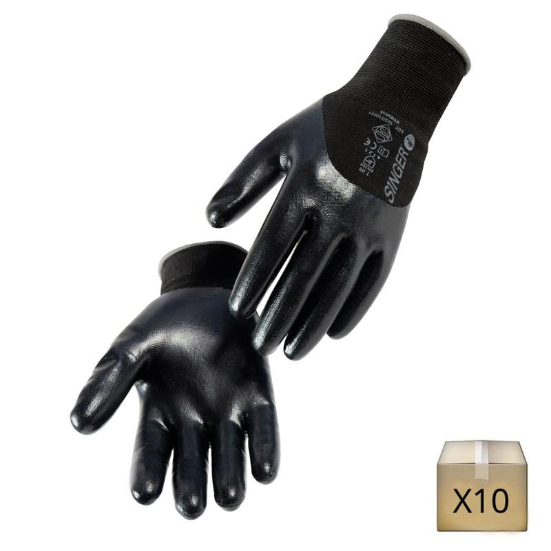 gant mécanicien nitrile noir