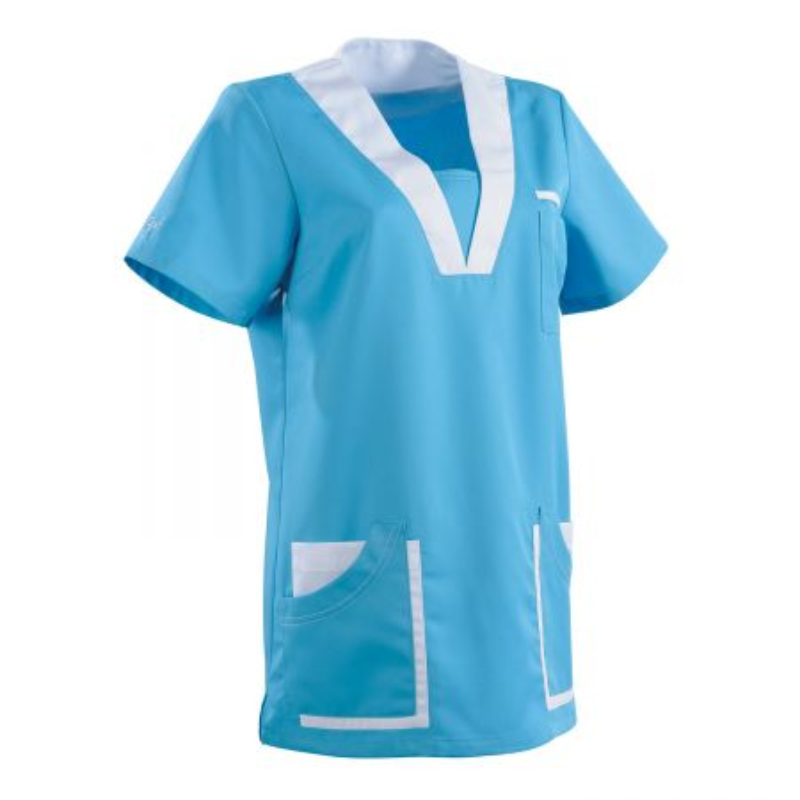 blouse tencel medicale femme clemix turquoise