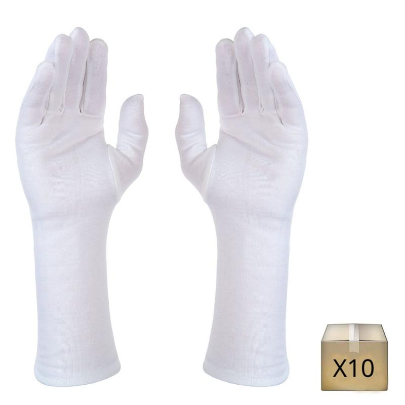 gant professionnel long en coton