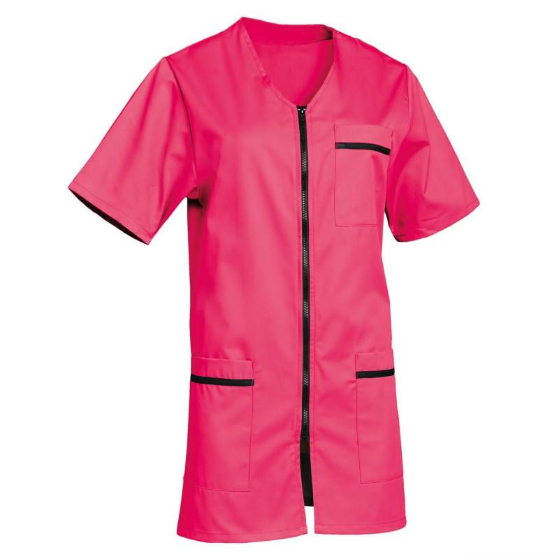 Tunique médicale rose femme