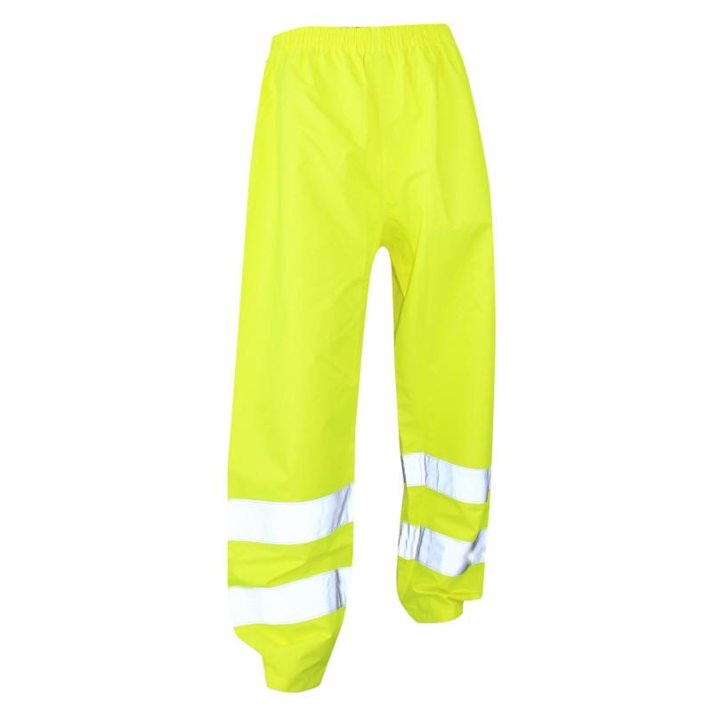 Pantalon imperméable haute visibilité jaune pas cher