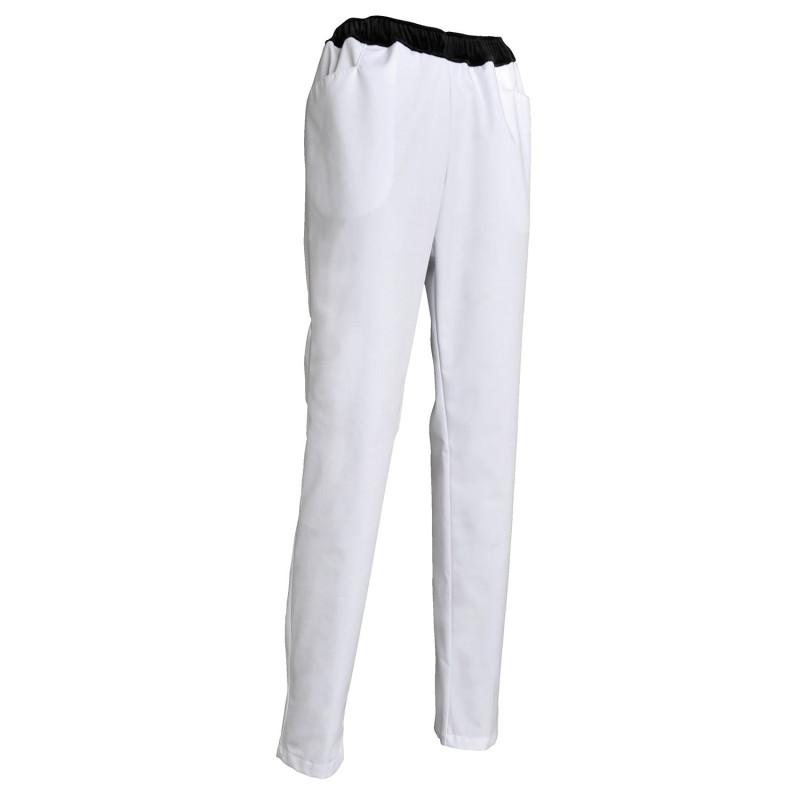 Pantalon professionnel blanc pas cher
