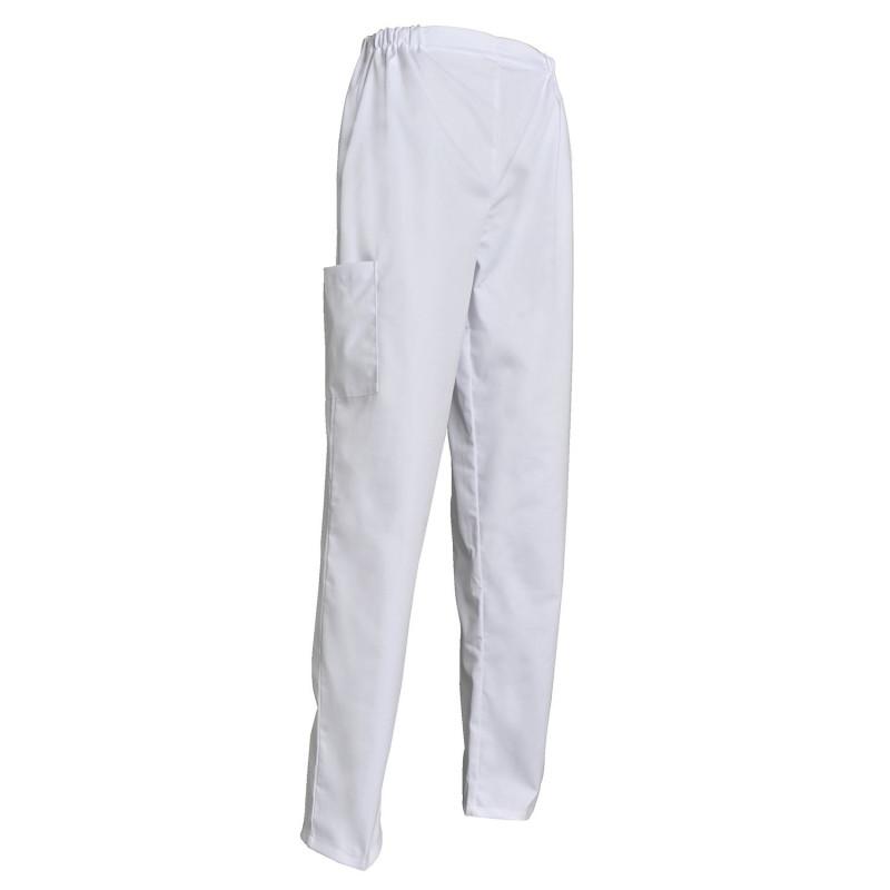 Pantalon médical femme blanc
