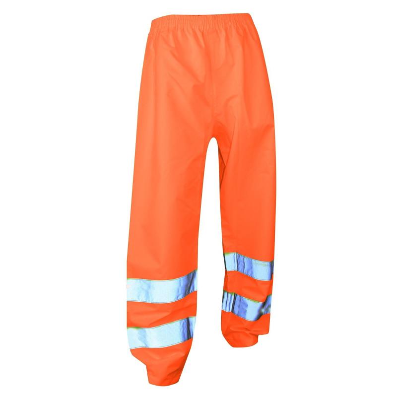 Pantalon imperméable haute visibilité ORANGE PAS CHER