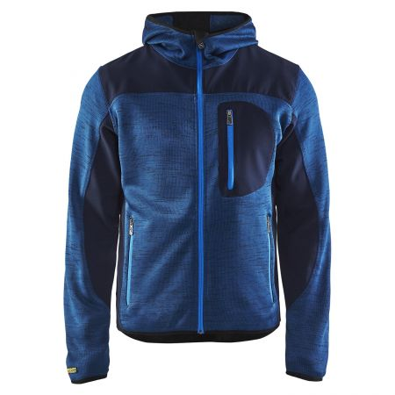 veste travail bleu