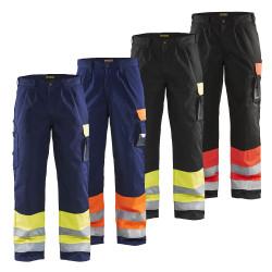 pantalon blaklader haute visibilité classe 1