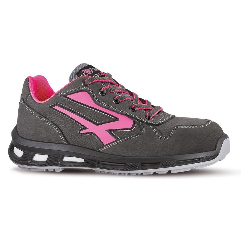 Chaussures de sécurité femme UPOWER REDLION grises et roses