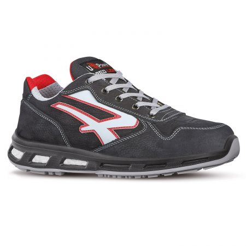 Chaussures de sécurité anti-fatigue et antidérapantes UPOWER RedLion noir et rouge
