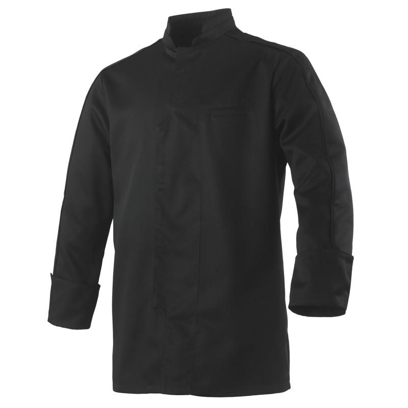 Veste cuisine manches longues noire