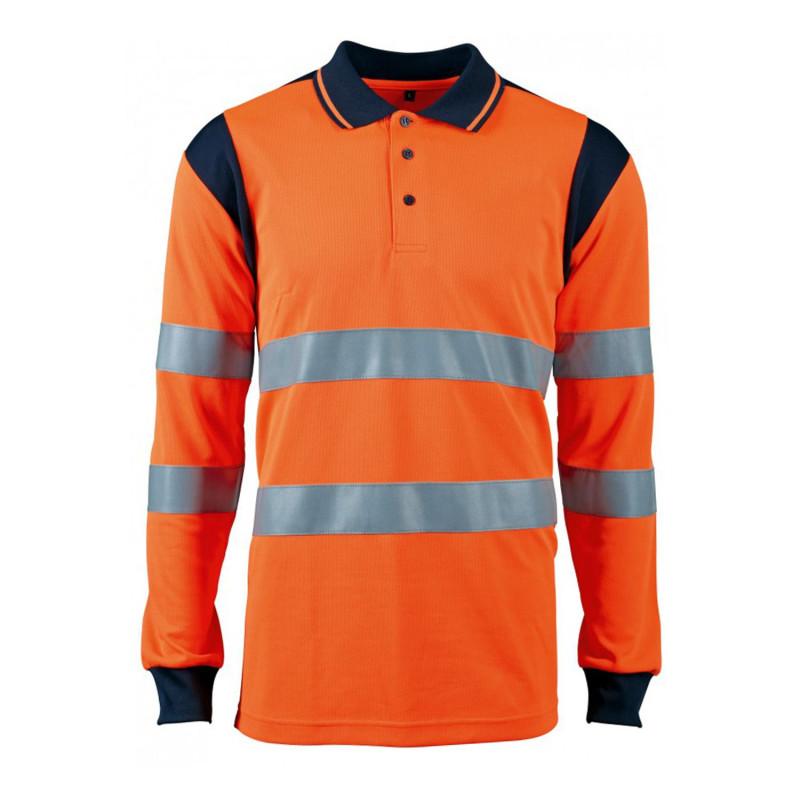 Polo orange haute visibilité