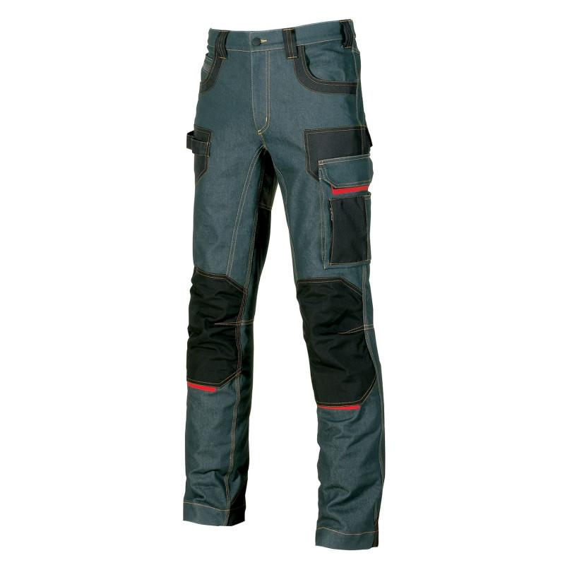 pantalon travail en jean avec poches genoux