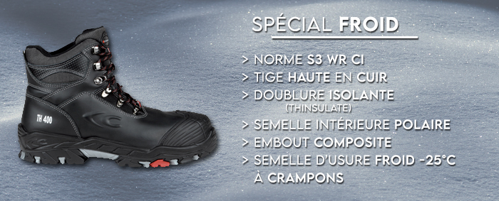 chaussure securite anti froid