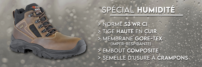 chaussure securite impermeable